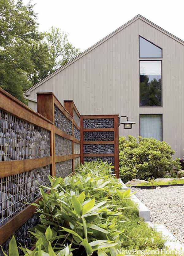 DIY Stone Fence Design And Diy Fence Projects