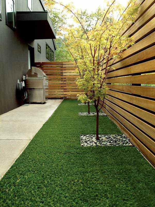 DIY Horizontal wood fence design and diy fence ideas and projects