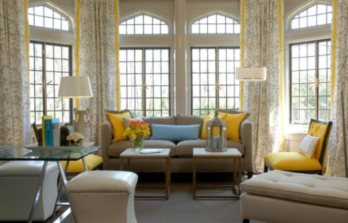 8 Beautiful Living Room Design Ideas With Yellow Accent