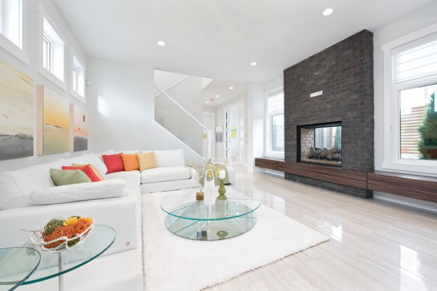 Bright white living space
