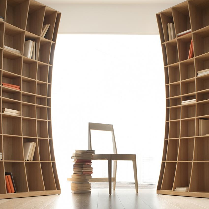 Concave Bookcase by Simon Pengelly for Joined + Jointed (2)