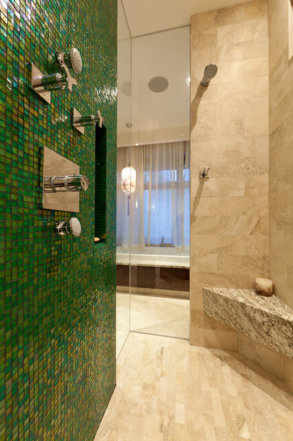Green Bathroom tile design