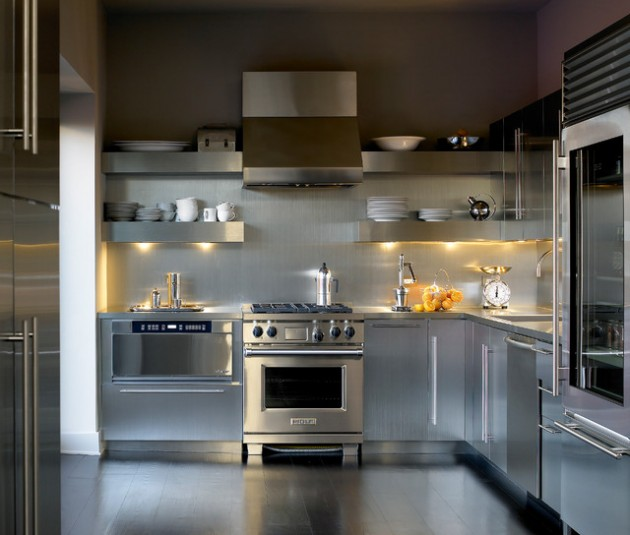 Stainless steel kitchen idea