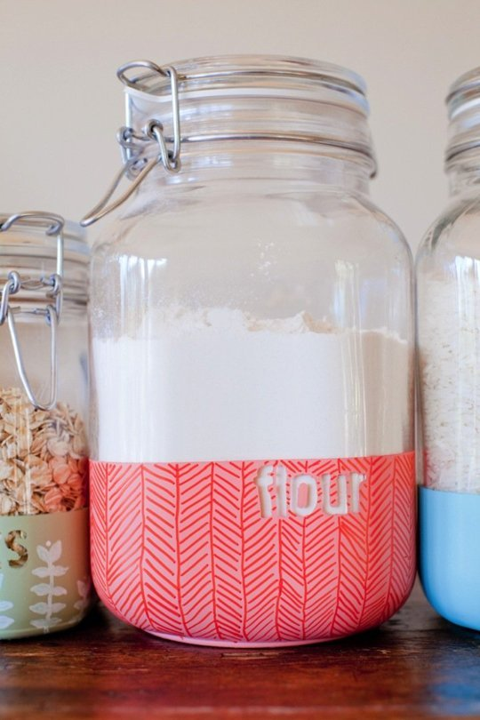 DIY Dipped Storage Containers