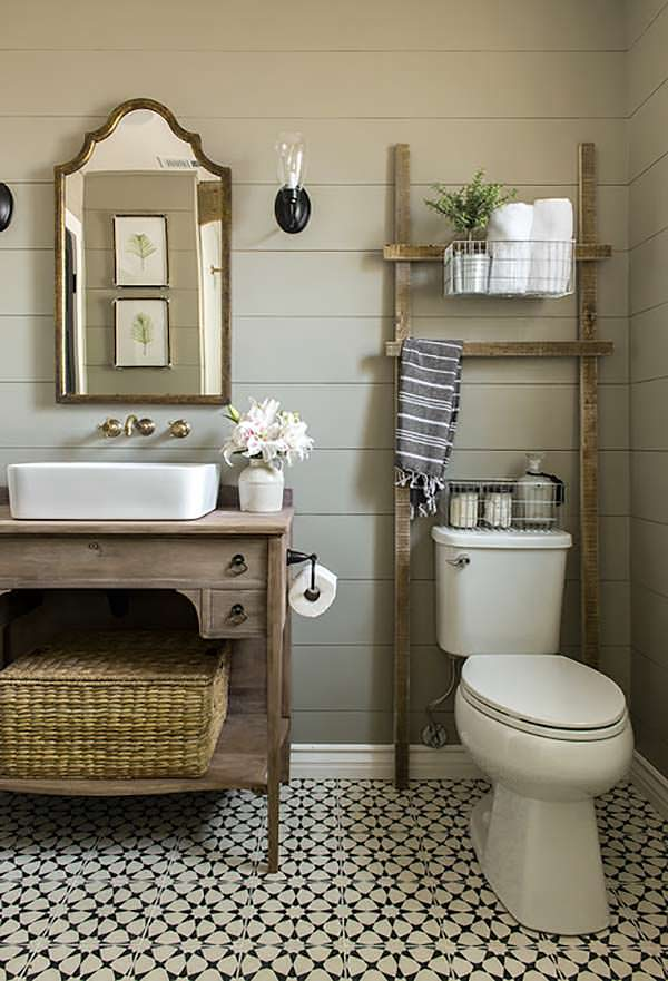 Beautiful Bathroom, Cozy Cottage Farmhouse