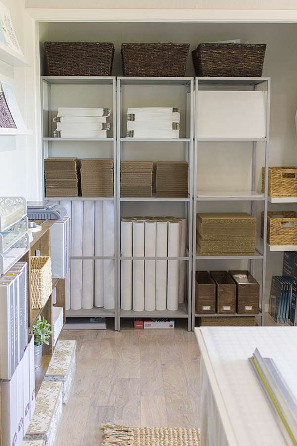 Shelving system, Working space, Cozy cottage