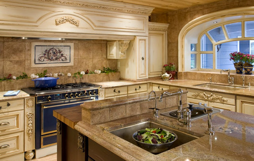 Amazing Kitchen By Luxury Ranch Interior Design