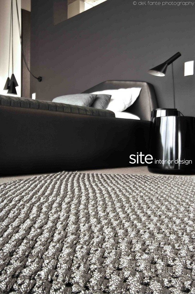 Beautiful Gray Bedroom Rug, Aupiais house by site interior design