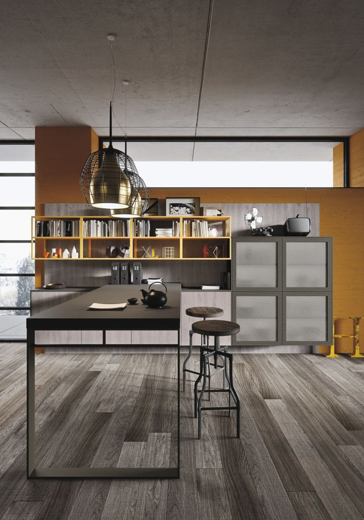 Beautiful Modern and Industrial Kitchen