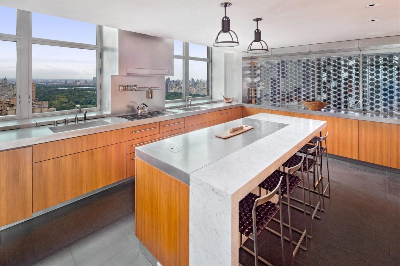 Bright Kitchen, Exclusive Duplex Penthouse in Manhattan
