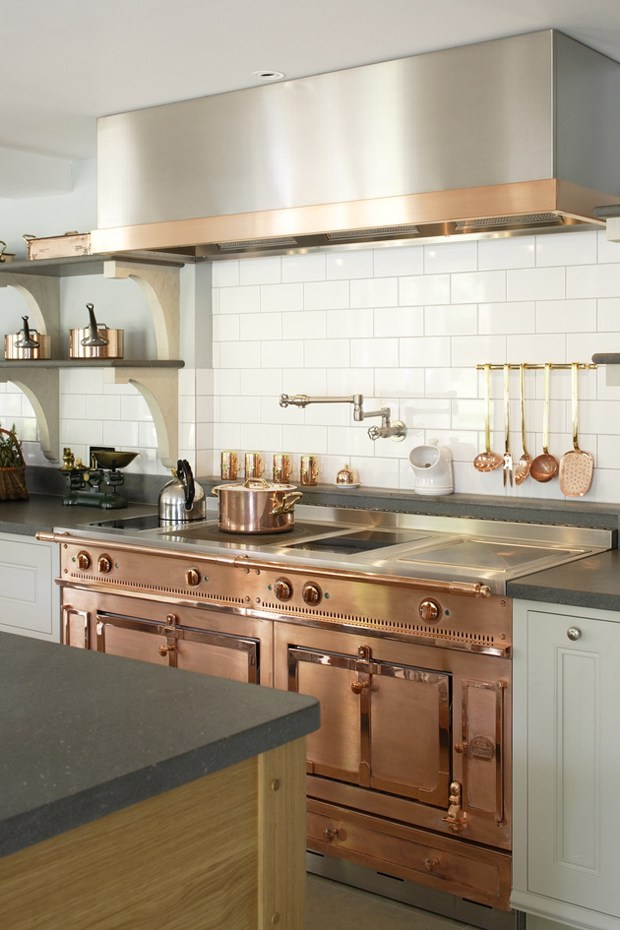 Copper Appliances, Edwardian style kitchen by Artichoke