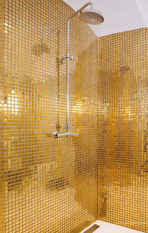 Gold Color Batroom Inspiration
