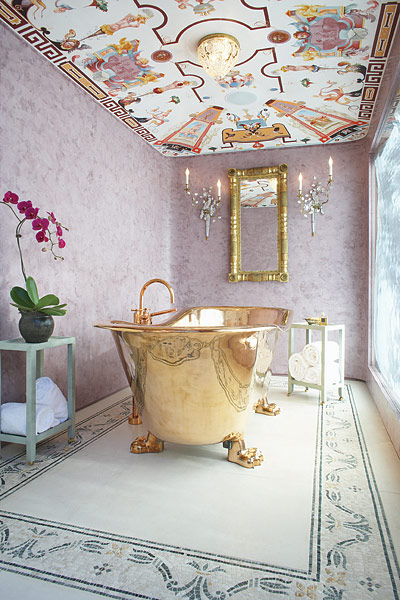 Gold color tub, Jessica Hall Associates
