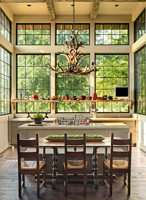 Luxury and rustic kitchen by Jeffrey Dungan Architects