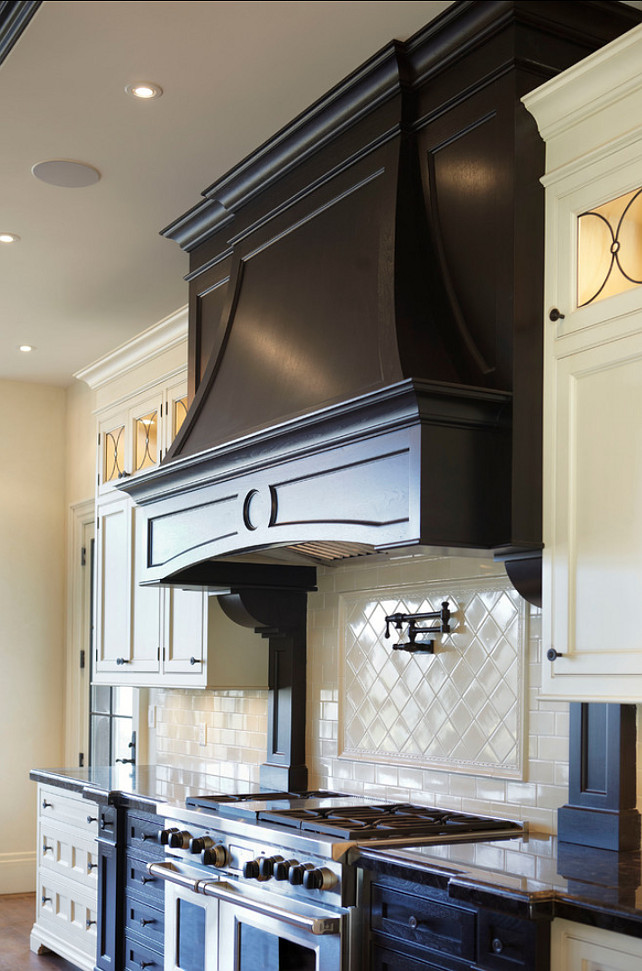 Range and Hood in the kitchen, Designed by Parkyn Design