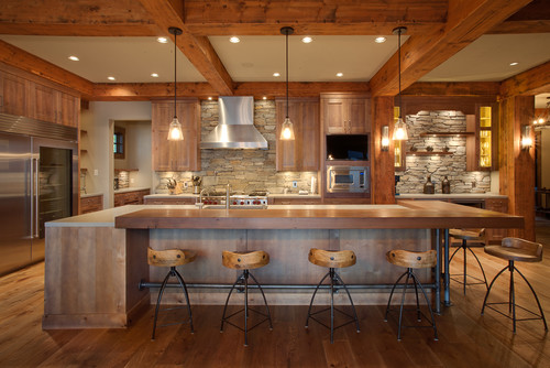 Rustic kitchen, Private Kelowna Residence by Norelco Cabinets