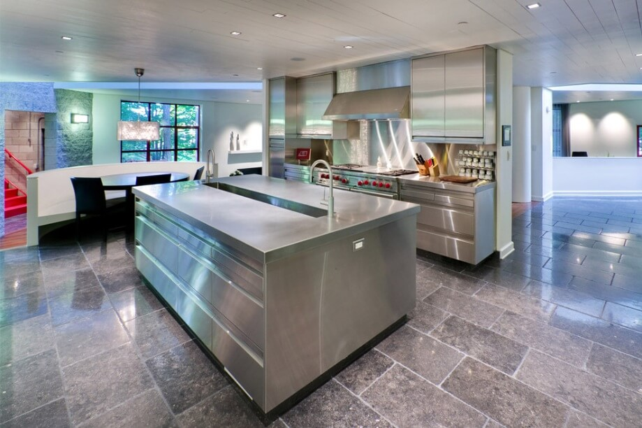 Stainless steel luxury kitchen floor tiles