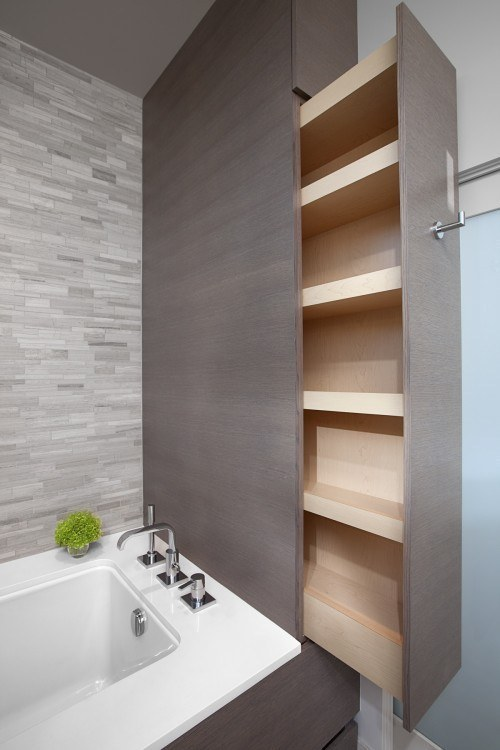 Creative DIY Storage for bathroom
