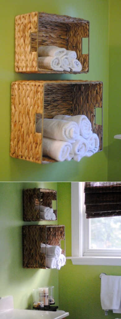 DIY Bath Towel Storage