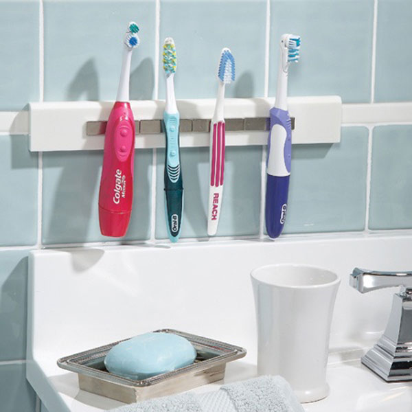 Magnetic toothbrush holder, DIY Bathroom Storage