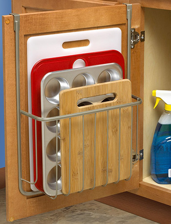 Over The Cabinet Cutting Board, Kitchen Storage And Organization Ideas