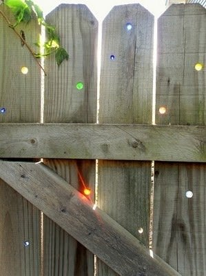 DIY fence and fill with marbles