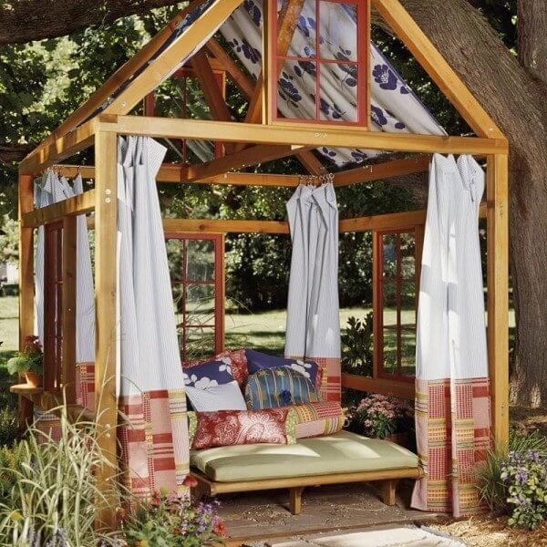 You can build a beautiful gazebo