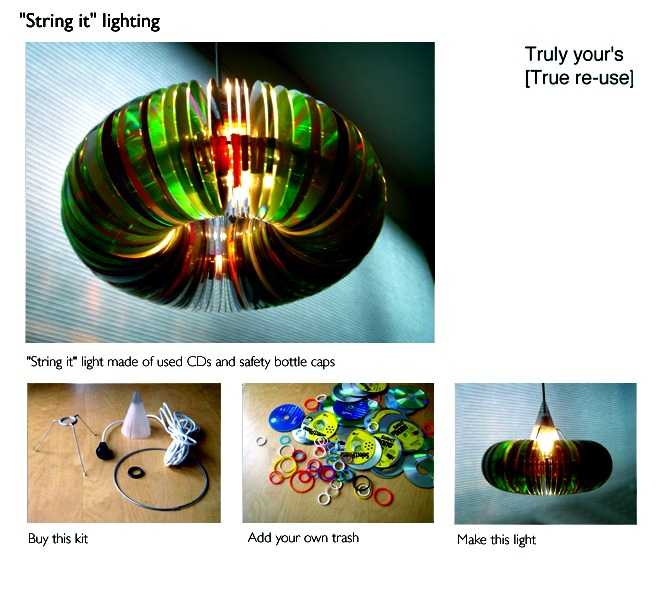 DIY Funky Ceiling Lamp Cover