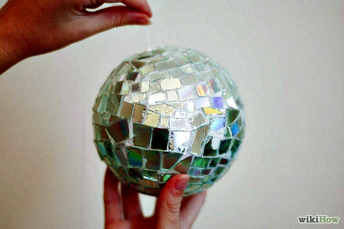 DIY Funny Ball with Old CDs
