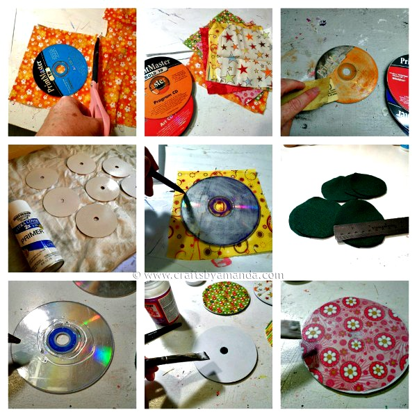 Recycled CD coasters, Do It Yourself