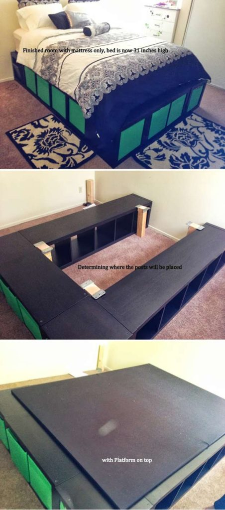 You'll like this IKEA Hack, Expedit Queen Platform Bed