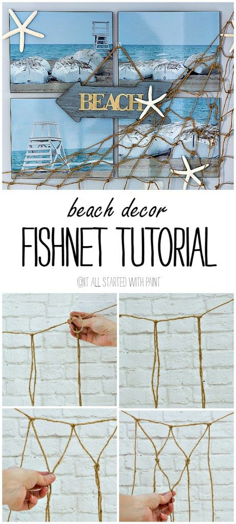 Beach Decor Decorative Fishnet Tutorial