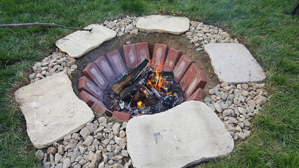 DIY Fire Pit Ideas, DIY Inground Brick Firepit