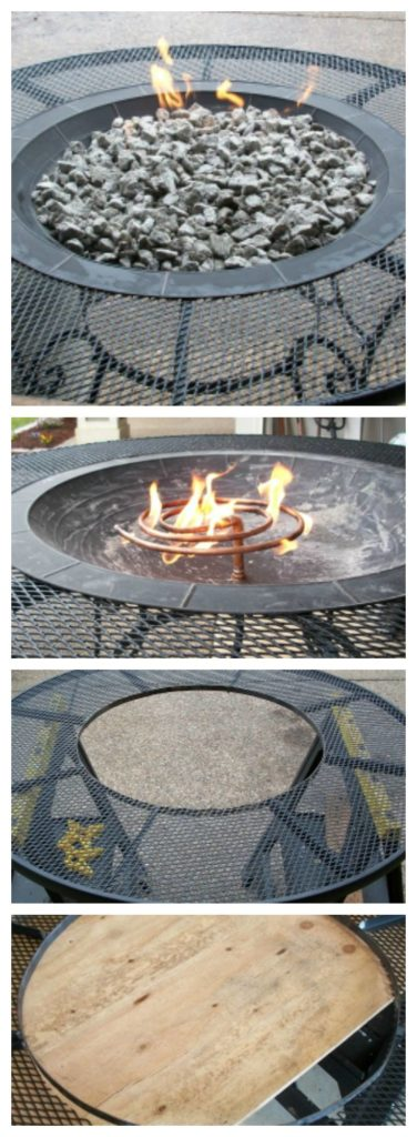 Beautiful Modern Steel Table DIY Gas Fire Pit Table, DIY Fire Pit Ideas