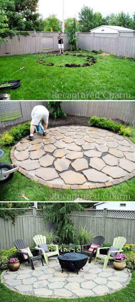 DIY Circle Outdoor Fire Pit Area Design, DIY Fire Pit Ideas and projects