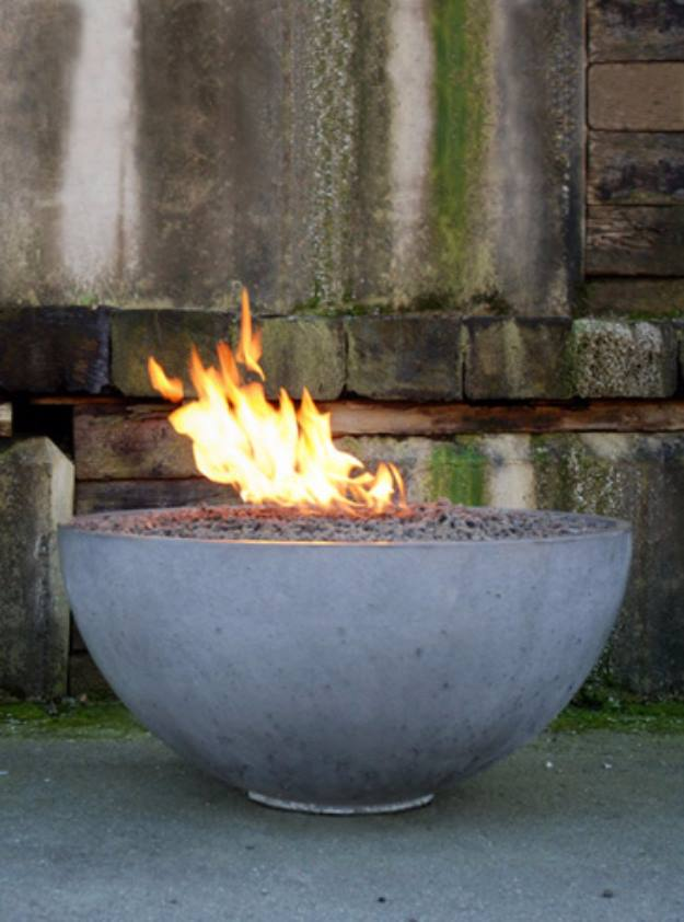 DIY Concrete Pit Fire Bowl, DIY Fire Pit Ideas