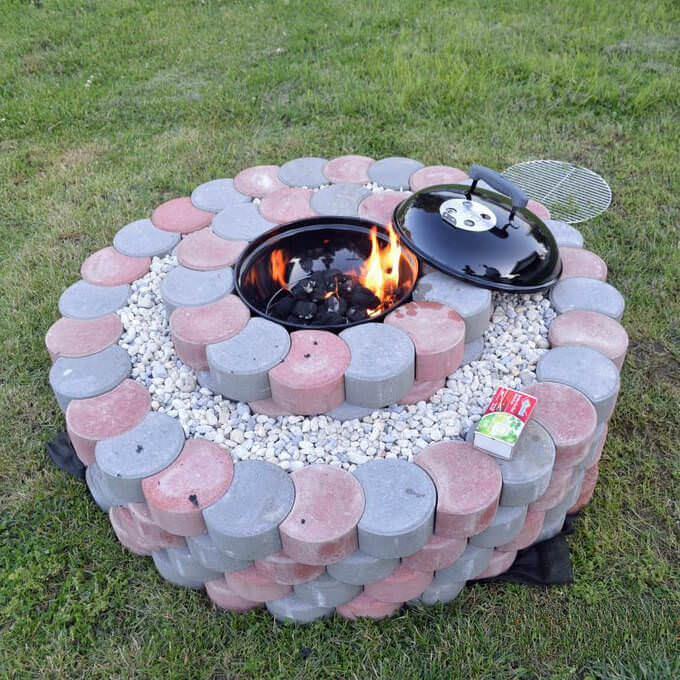 DIY Concrete Tree Rings Fire Pit, DIY Fire Pit Ideas