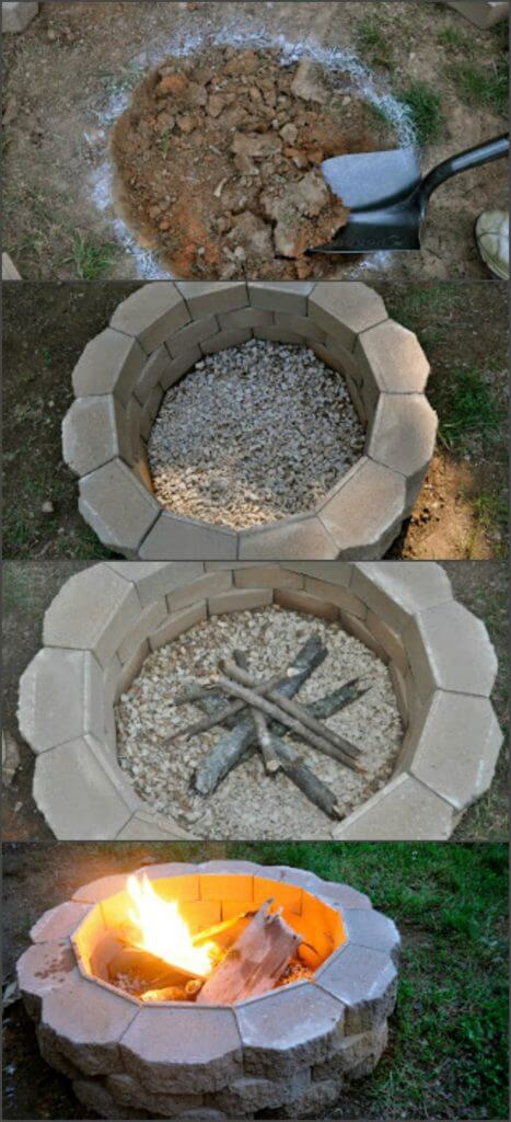 Beautiful DIY Fire Pit, DIY Fire Pit Ideas and Projects