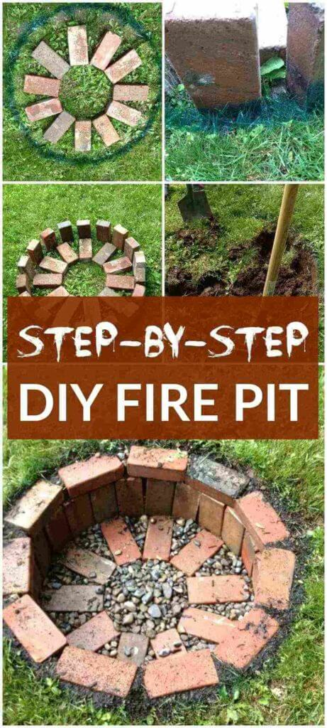 DIY Round Fire Pit Step By Step, DIY Fire Pit Ideas
