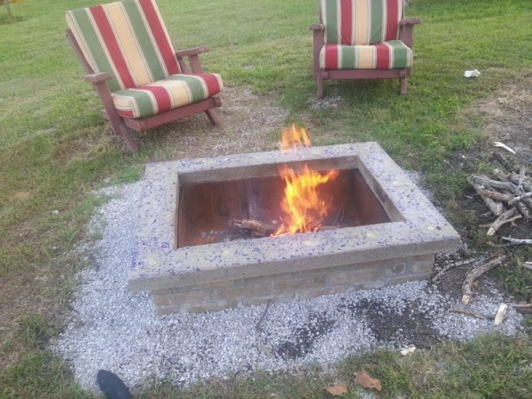 DIY Fire Pit With Custom Capstone, DIY Fire Pit Ideas