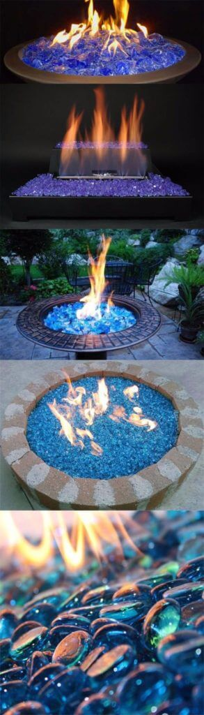DIY Fireglass Ice On Fire Pit, DIY Fire Pit Ideas