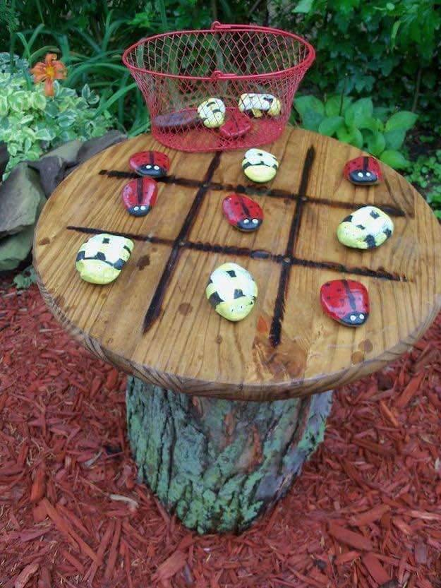 Diy Outdoor Garden Ideas 40 the best diy backyard projects and garden ideas diy outdoor tic tac toe workwithnaturefo