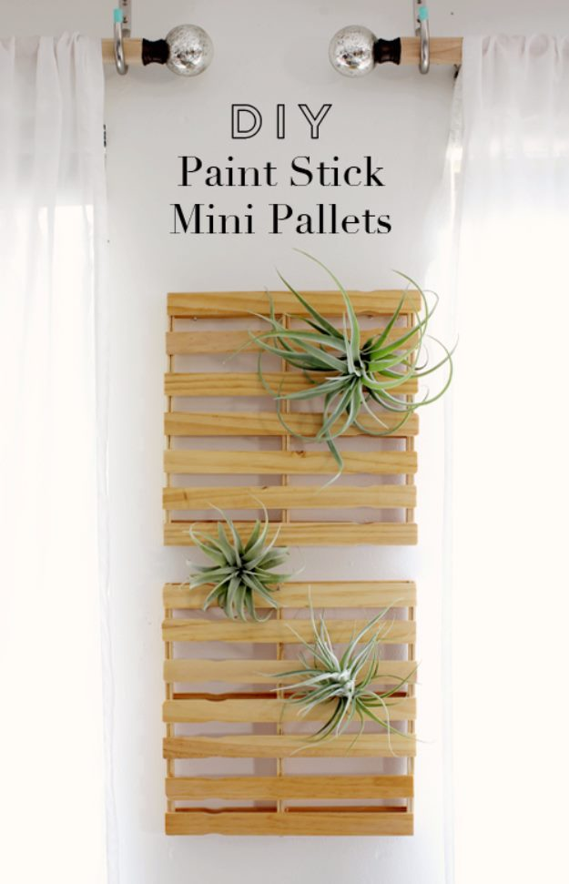 DIY Pallet proejcts That Are Easy to Make and Sell ! DIY Paint Stick Mini Pallets