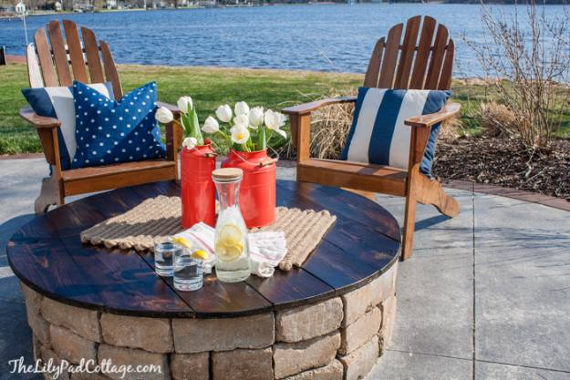 DIY Firepit Table Top, DIY Fire Pit Ideas