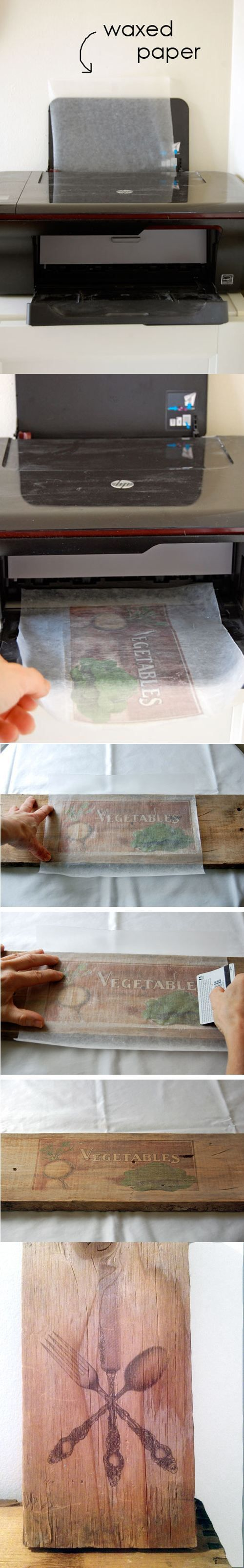DIY Pallet proejcts That Are Easy to Make and Sell ! How to Print Pictures on Wood Waxed Paper Transfer, Wax Paper Transfer Tutorial Ideas
