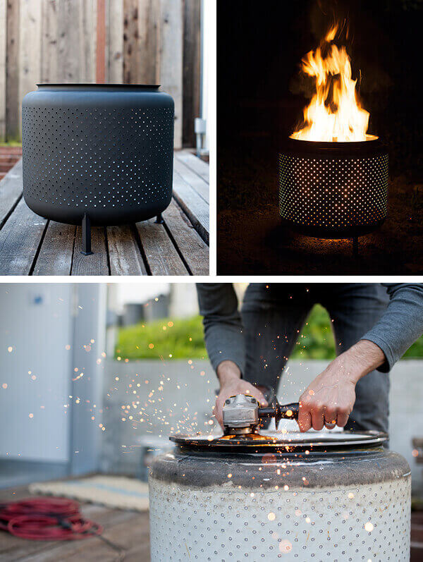 One Hour Upcycled Washing Machine Drum Firepit, DIY Fire Pit Ideas