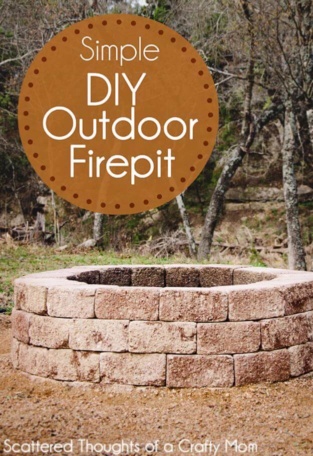 Simple DIY Outdoor Firepit, DIY Fire Pit Ideas