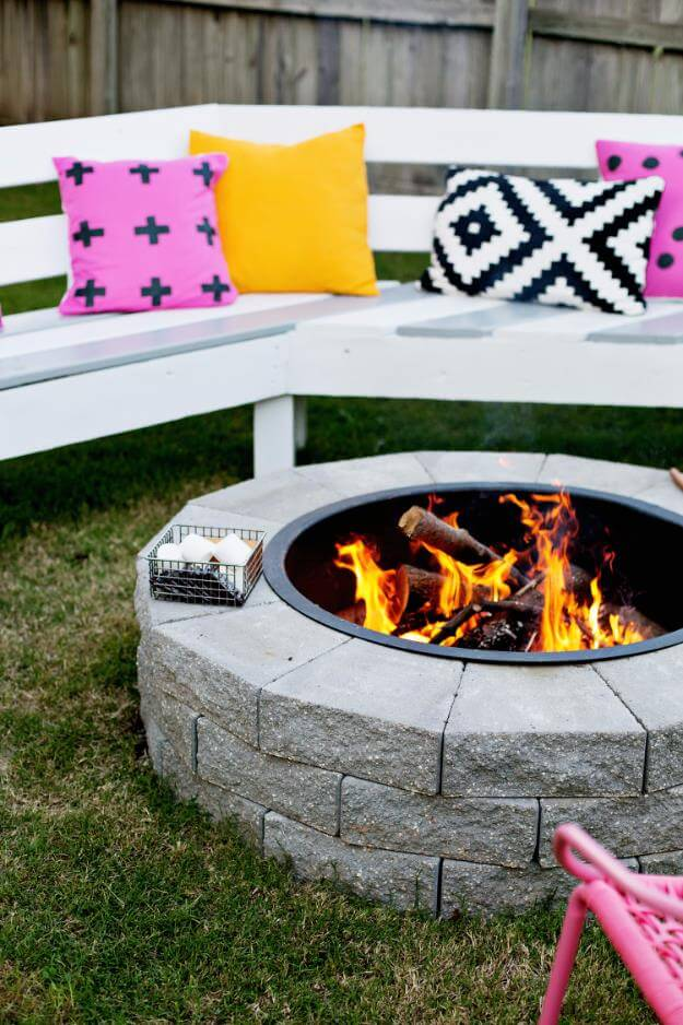 Stylish DIY Firepit In 4 Easy Steps, DIY Fire Pit Ideas