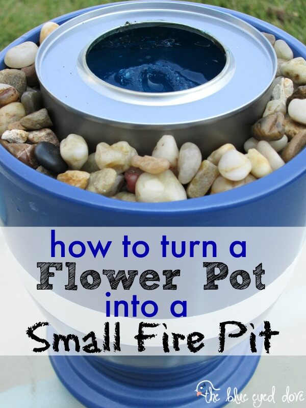 The Flower Pot Small Fire Pit, DIY Fire Pit Ideas