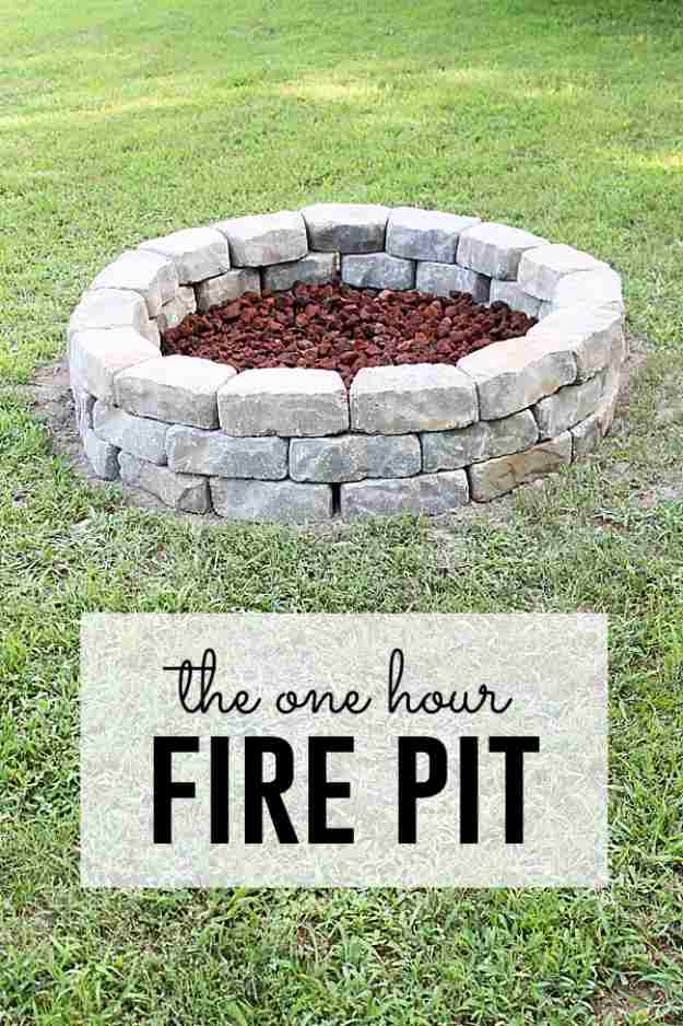 The One Hour DIY Firepit, DIY Fire Pit Ideas